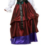Wine and Royal Gathered Costume Skirt - Adult