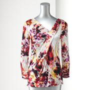 Simply Vera Vera Wang Splatter Pleated Top