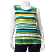 Croft and Barrow Striped Tank - Women's Plus