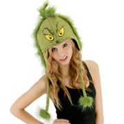 Dr. Seuss Grinch Hoodie Costume Hat - Adult