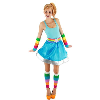 Rainbow Brite Costume Arm and Leg Warmers - Adult