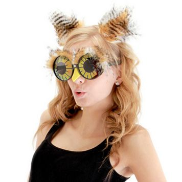 Owl Ears & Glasses Costume Set - Adult