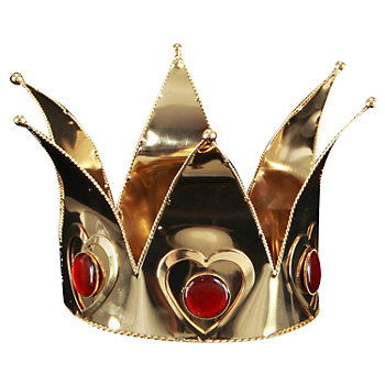 Mini Queen of Hearts Costume Crown - Adult