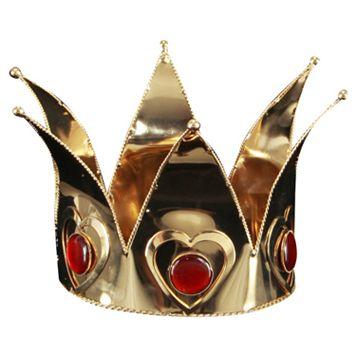 Mini Queen of Hearts Costume Crown - Adult