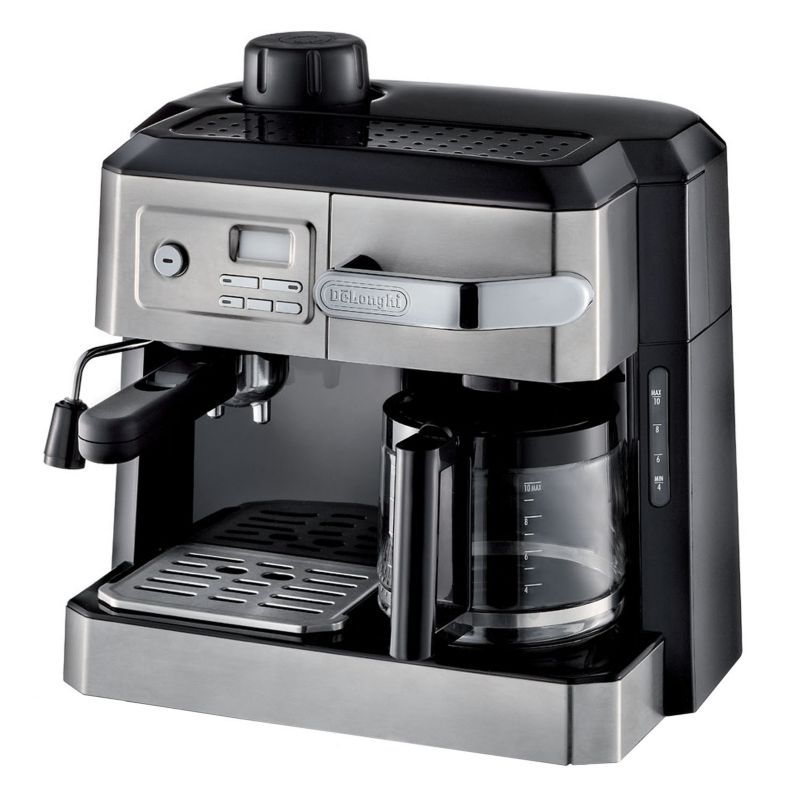 DeLonghi All-in-One Combination Coffee and Espresso Machine, Black