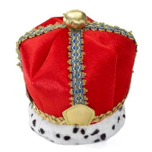 Velvet King Costume Crown - Adult