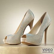 Jennifer Lopez Peep-Toe Platform High Heels - Women