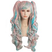 Two-Tone Pigtail Cosplay Costume Wig - Adult