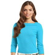 Chaps Striped Top - Petite
