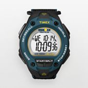Timex Ironman Triathlon 30-Lap Black Resin Digital Chronograph Watch - T5K413KZ - Men