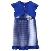 Chaps Striped Knit Dress and Shrug Set - Girls 4-6x