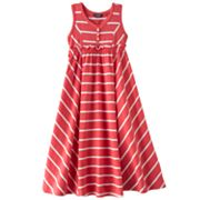 Chaps Striped Maxi Dress - Girls 4-6x
