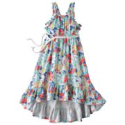 Chaps Floral Belted Maxi Dress - Girls 4-6x