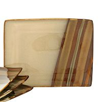 Sango Avanti Brown 4-pc. Small Serving Plate Set