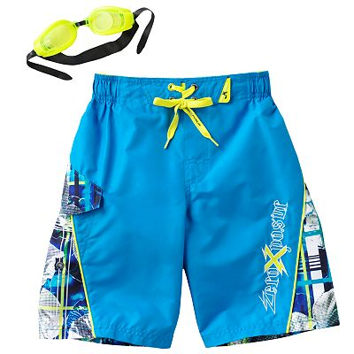 ZeroXposur Hibiscus Swim Trunks - Boys 4-7