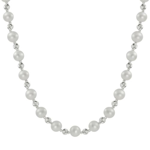 PearLustre by Imperial Sterling Silver Freshwater Cultured Pearl Necklace