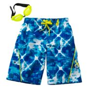 ZeroXposur Digi Diamond Swim Trunks - Boys 4-7