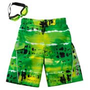 ZeroXposur Tie-Dye Swim Trunks - Boys 4-7