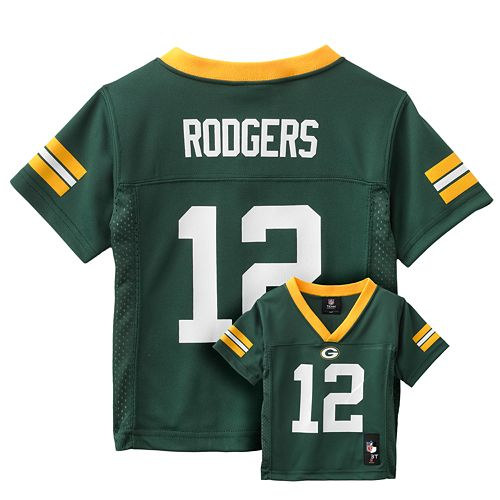 timeless design 998eb d21a5 Green Bay Packers Aaron Rodgers Jersey - Toddler