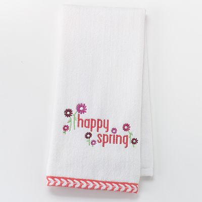 Croft and Barrow Happy Spring Floral Hand Towel