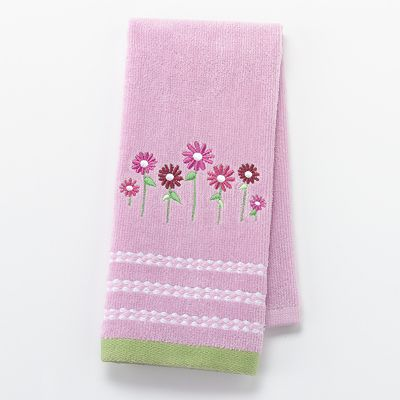 Croft and Barrow Spring Daisy Fingertip Towel