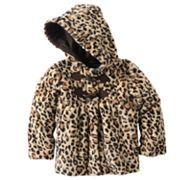 Rothschild Leopard Faux-Fur Coat - Girls 4-6x
