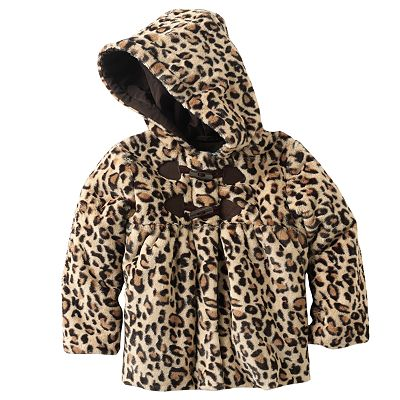 Rothschild Leopard Faux-Fur Coat - Toddler