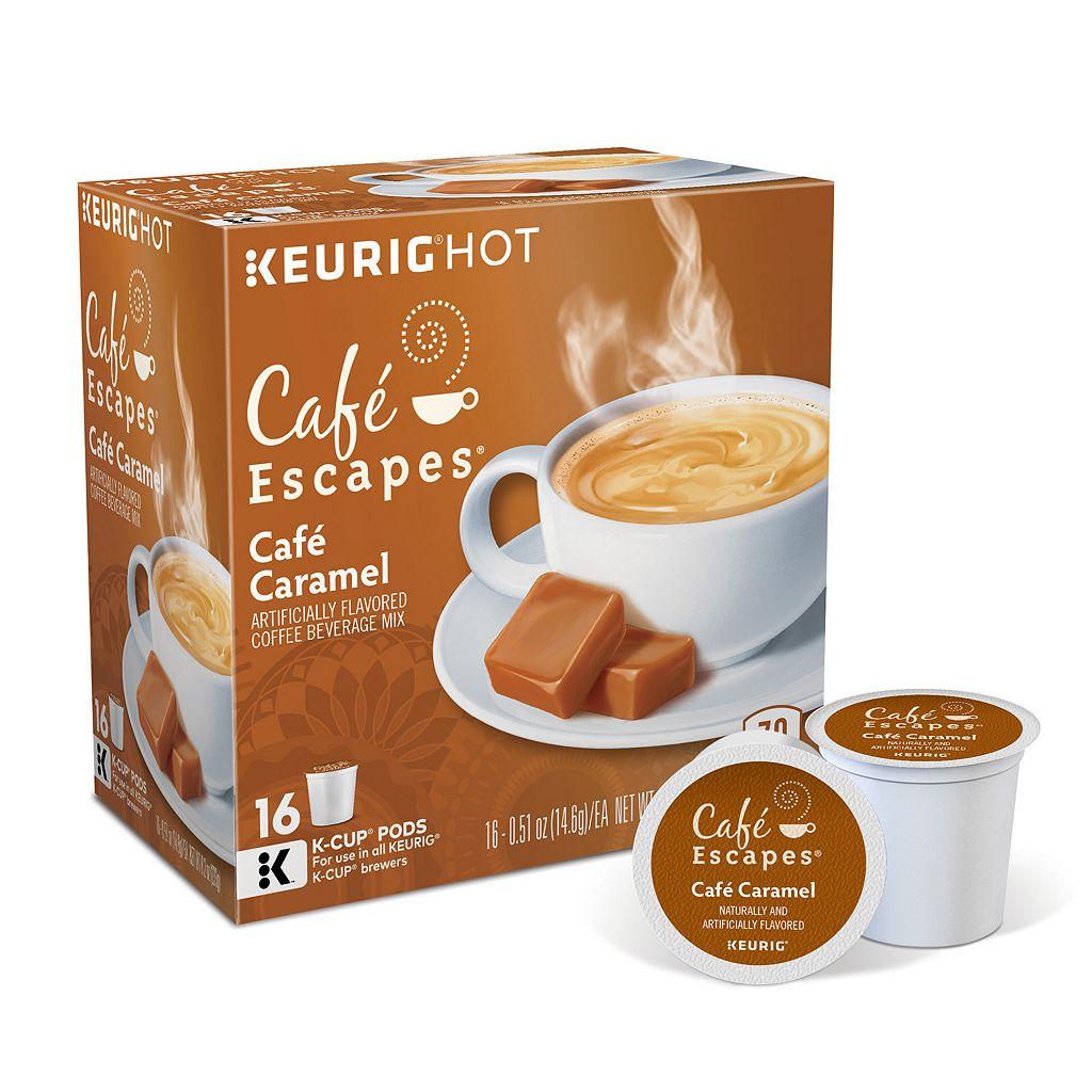 Keurig® K-Cup® Pod Cafe Escapes Cafe Caramel - 16-pk.