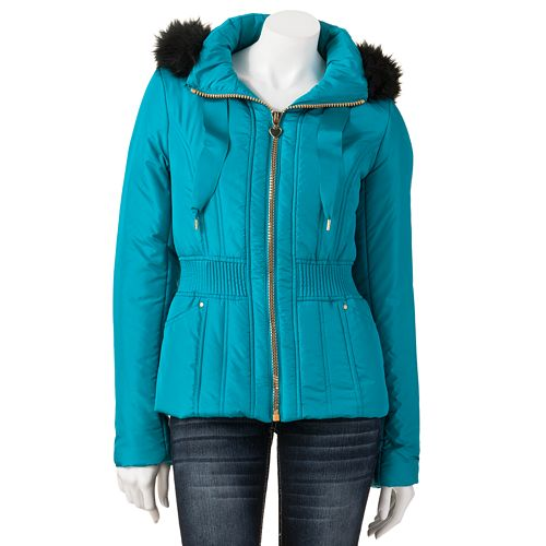 Candie's® Faux-Fur Puffer Coat - Juniors