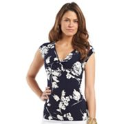 Chaps Floral Empire Top
