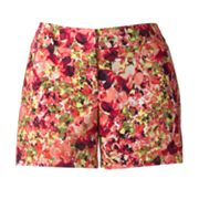 Apt. 9 Floral Twill Shorts - Women's Plus