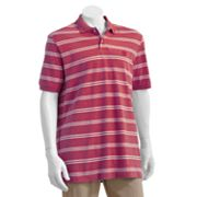 Chaps Easy-Care Yarn-Dyed Striped Polo