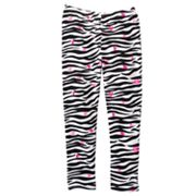Jumping Beans Zebra and Heart Leggings - Girls 4-7