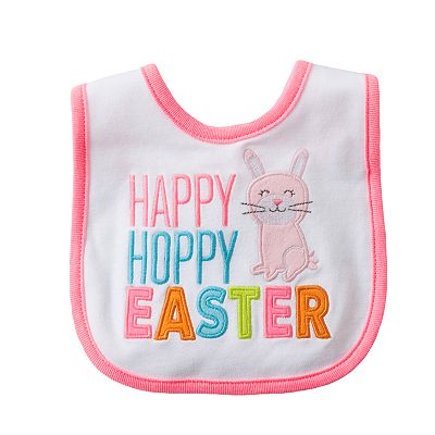 Carter's Happy Hoppy Easter Bib