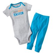Carter's Happy Hoppy Easter Turn Me Around Bodysuit and Pants Set - Baby