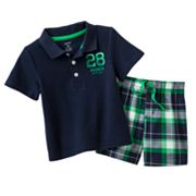Carter's Polo and Plaid Shorts Set - Baby