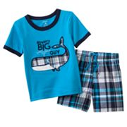 Carter's Whale Tee and Plaid Shorts Set - Baby