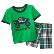 Carter's Monster Truck Tee and Plaid Shorts Set - Baby