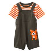 Carter's Tiger Shortalls and Striped Tee Set - Baby