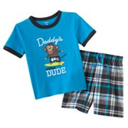 Carter's Daddy's Little Dude Tee and Plaid Shorts Set - Baby