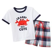 Carter's Crab Tee and Plaid Shorts Set - Baby