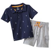 Carter's Anchor Polo and Striped Shorts Set - Baby