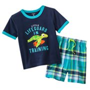Carter's Sea Turtle Tee and Plaid Shorts Set - Baby