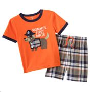 Carter's Mommy's First Mate Tee and Plaid Shorts Set - Baby