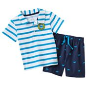 Carter's Striped Polo and Whale Shorts Set - Baby