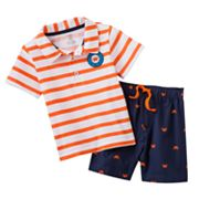Carter's Striped Polo and Crab Shorts Set - Baby