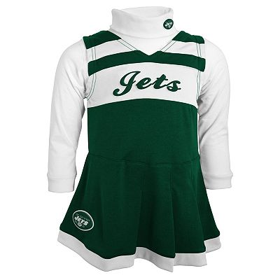 New York Jets Cheerleader Jumper and Top Set - Baby