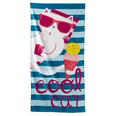 Jumping Beans Cool Cat Beach Towel