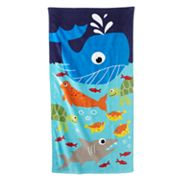 Jumping Beans Whale Beach Towel