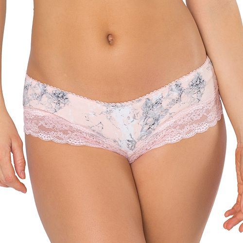 SO® Juniors' Cheeky with Lace Leg Panty